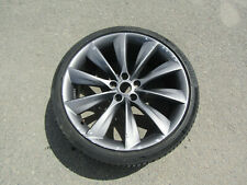 "TESLA MODEL S 21"" 8.5J TURBINE FRONT ALLOY WHEEL & TYRE 6005868-00-E REF 11T04"