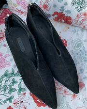 TOPSHOP Jester Black Suede Pointed Shoe Boots Size 5