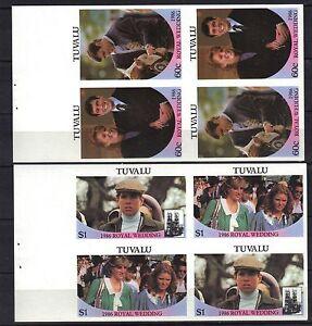 TUVALU.ROYAL WEDDING BOOKLET PANES IMPERF MNH 1986