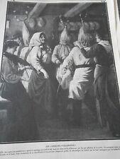 Les Garcons Paillassons après le mariage ouvrent le bal Old Print 1912
