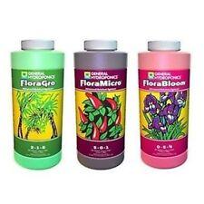 General Hydroponics Flora Series Pack Gro Bloom & Micro - 3 x 946ml Nutrients