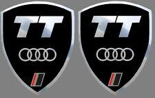 2 adhésifs stickers noir et chrome AUDI TT (idéal pour ailes avant)