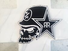 Metal Clothing Skull Helmet Biker Rockstar Embroidered Iron On Patches Patch