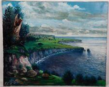 Tableau signé Zorriffa - Paysage Marin - Huile sur toile