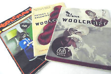 3 x Vintage Patons Baldwins  Woolcraft Books Years CIRC 1940 1950 1970 Years