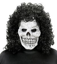 Silly Máscara Calavera & Peluca negra hombre Disfraz de Halloween años 70 80