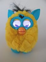 Furby Boom yellow/blue interactive electronic pet, Hasbro 2012