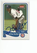 LaTROY HAWKINS Autographed Signed 2004 Fleer card Chicago Cubs COA