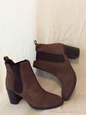 Next Brown Ankle Leather Boots Size 6.5