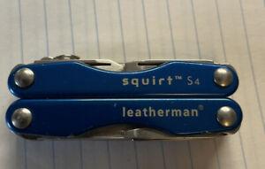 LEATHERMAN SQUIRT S4 Blue MINI TOOL SCISSORS KNIFE MULTI TOOL
