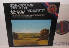 D 37814 Chausson Concert For Violin Piano & String Qtet Perlman Bolet Juilliard
