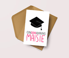 Personalised Graduation Card Congratulations on your degree Leaving University