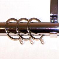 28mm Chrome Bay Window Curtain Pole with Ridged Ball Finials 2.4m 240cm 300cm