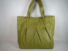 Cole Haan Green Leather Shoulder Bag Handbag Large Purse Travel Tote Laptop Work
