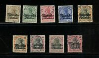 A407  German Offices - Morocco  1911   SHORT-SET  9v.  used/MH