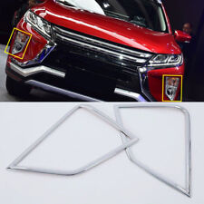 Chrome Front Fog Light Lamp Cover Trim 2pcs For Mitsubishi Eclipse Cross 2018-19