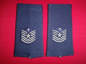 Pair Of US Air Force TECHNICAL SERGEANT With Diamond Epaulets (For Male)