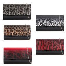 f0ca8c0737 Style  CrossbodyColour  BlackMaterial  Leather. Ladies Leopard Print Clutch  Bag Animal Zebra Evening Bag Prom Bag Handbag KH2440