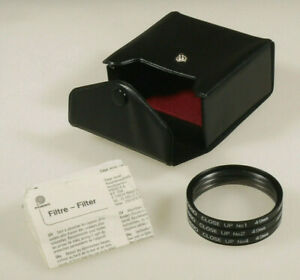 PRL) LENTI DIOTTRICHE CLOSE UP FILTER KIT N.1 - 2 - 4 POSSO FILTRO 49 mm FILTRE