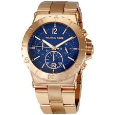 Michael Kors Ladies Dylan Ocean Blue Face Chronograph Designer Watch MK5410