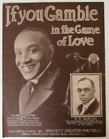 Leland Goldman - If You Gamble In The Name Of Love - 1921 Sheet Music - Rare