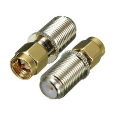1PC F Female Jack to SMA Male Plug Straight RF Coaxial Adapter Connector New