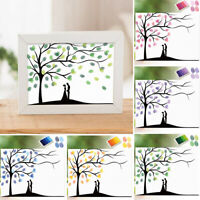 IG_ KE_ Wedding Party Fingerprint Tree Painting Signature Guest Book with Ink Pa