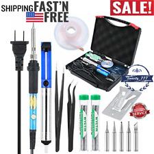 Soldering Iron Kit Electronic 60W 110V Adjustable Temperature Welding Iron New