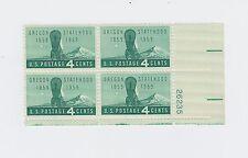 block of 4 OREGON STATEHOOD stamps *BUY ONE GET ONE FREE* Scott #1124 MNH US 4c