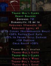 Trang Oul's Claws Gloves | Trang Ouls Handschuhe |Diablo 2 Resurrected D2R SC PC