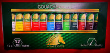 Gouache Color - Artists' Quality - 12 x 12ml - New, Unsealed & Unopened