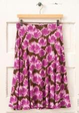 NWT Matilda Jane SWAY THIS WAY Skirt L Stretch Knit Boho Purple Brown Womens