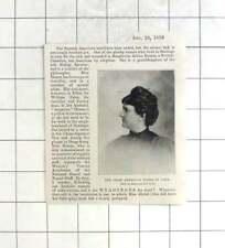 1898 Chief American Nurse In Cuba, Margherita Arlena Hamm