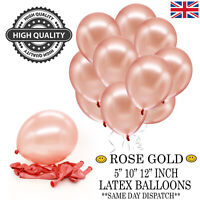 "ROSE GOLD LATEX BALLOONS SETS 5/"" 10/""  12/"" INCH HELIUM WEDDING BIRTHDAY HEN PARTY"