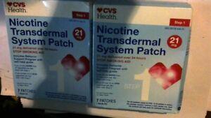 CVS Health Nicotine Transdermal System Patch, Step 1, 14 Patches, 04/2021