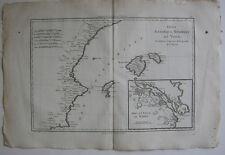 Islas Baleares mallorca minorca Ibiza ORIG Copper Plate R. bonne 1780 Espana