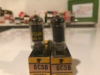 Lot Of 2 Vintage Sylvania Electronic Vacuum Tube 6CS6 NOS Tested Strong NIB