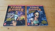 Tomb Raider Strategy Guides 1,2,3, I, II, III Prima Official Guide FREE POST