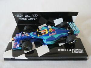 J. HERBERT Sauber C17 Petronas 1998 Paul's Model Art Minichamps Formula 1 1:43