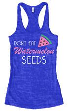 Don't Eat Watermelon Seeds Women's Burnout Racerback Tank Top Baby Shower Gift