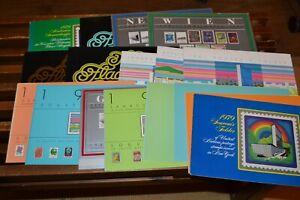 17 UN-Jahrbücher New York, Wien, Genf 1979 - 1983 plus ein Album UNO-Marken ()