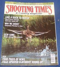 SHOOTING TIMES MAGAZINE MAY 2-8 1991 - LIKE A DUCK TO WATER