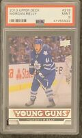 2013 2014 UPPER DECK Morgan Rielly PSA 9 YOUNG GUNS RC ROOKIE MAPLE LEAFS MINT