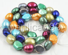 "8-9mm Freshwater Cultured Pearl Loose Beads 15"" Multi-color For Necklace Making"
