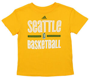 Outerstuff WNBA Kids Seattle Storm Practice Graphic Tee, Yellow