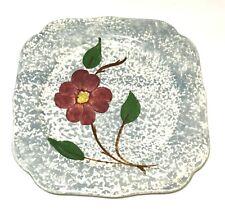 Blue Ridge Pottery Plate Vintage Square Floral Mid Century Modern Retro Deal