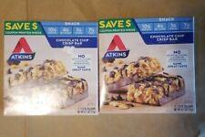 2 pack Atkins Chocolate Chip Crisp Day Break Bar 5/BOX EBD 3/24/2020