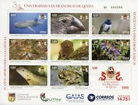 Ecuador 2018 MNH San Francisco de Quito University 8v M/S Birds Animals Stamps