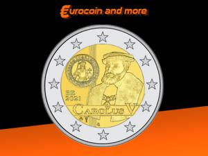 2 Euro Belgien 2021 500 Jahre Karlsgulden in BU lose