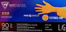 West Chester 2940 PosiShield 7 Mil Powder Free Orange Nitrile Disposable Gloves
